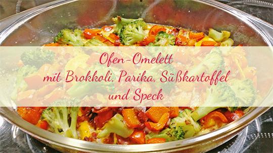 Ofen-Omelett mit Brokkoli, Paprika, Süßkartoffel und Speck [nachgekocht]