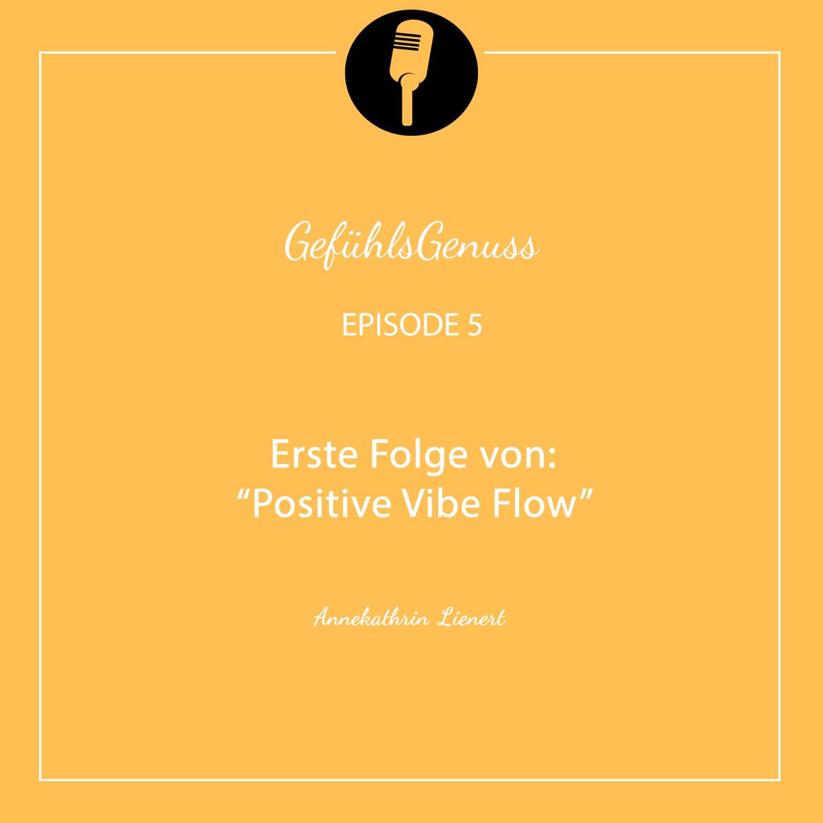"""Episode 5 – Erste Folge von """"Positive Vibe Flow"""""""